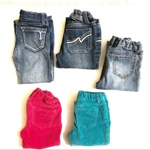Lot of Girls Pants Jeans Size 5
